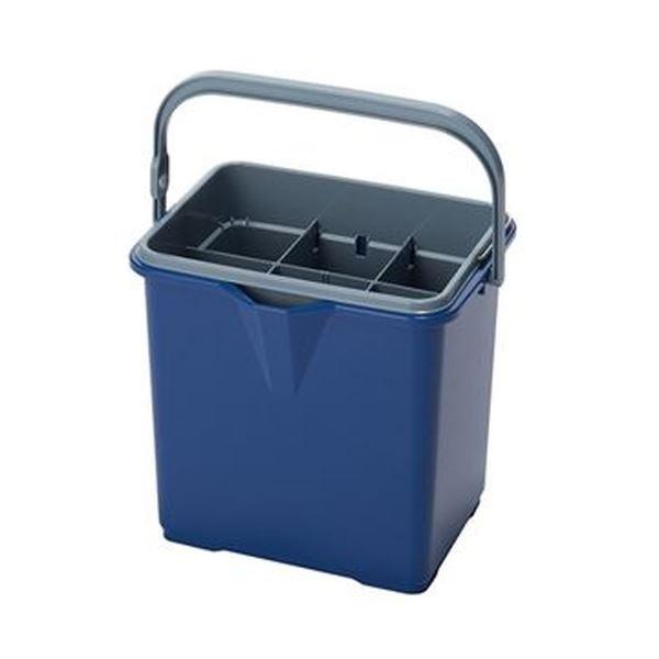 掃除道具の収納もできる二重構造の仕切板付バケツ まとめ テラモト 仕切付きバケツII ブルーCE-447-100-3 新作通販 1個 ×3セット お歳暮