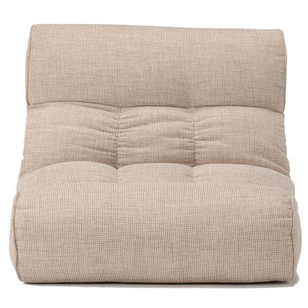 ソファー座椅子/フロアチェア 【アイボリー】 ワイドタイプ 41段階リクライニング 『ピグレット2nd-ベーシック』