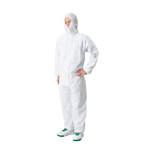 (まとめ) 川西工業 不織布使い捨てつなぎ 防塵タイプ L #7017L 1着 【×10セット】