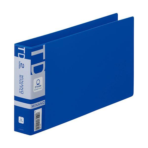 スタンダードタイプのリングファイル まとめ ライオン事務器 リングファイルMINANO サービス ミナノ 統一伝票用 2穴 1冊 RF-228M-TD 背幅35mm ×30セット ブルー 200枚収容 公式