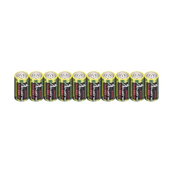 (まとめ)メモレックス・テレックス アルカリ乾電池単2形 LR14/1.5V/10S 1セット(100本:10本×10パック)【×3セット】