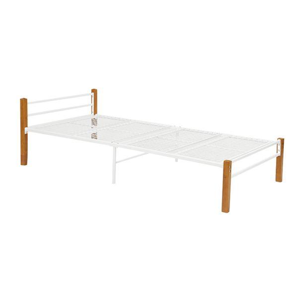 シングルベッド(ナチュラルホワイト) 組立式【代引不可】