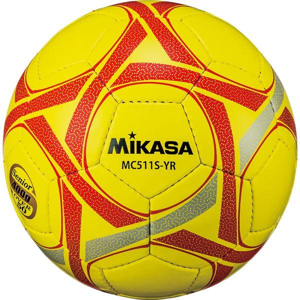 MIKASA(ミカサ)サッカーボール軽量5号球 シニア(50歳以上)用 イエローレッド【MC511SYR】