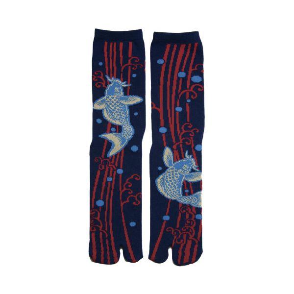 (まとめ)ヤマコー 足袋ソックス 鯉の滝登り【×10セット】