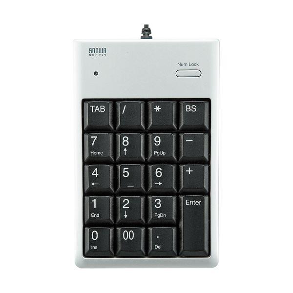 舗 Excelに便利なTabキー付 まとめ サンワサプライUSB2.0ハブ付テンキー シルバー 1個 日本最大級の品揃え NT-16UH2PKN ×10セット
