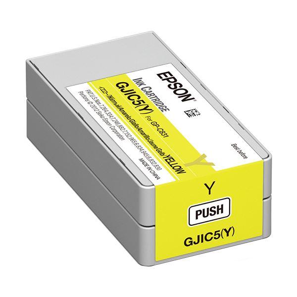 メーカー純正インクカートリッジ まとめ 直輸入品激安 エプソン インクカートリッジ イエローGJIC5Y ×10セット 1個 期間限定の激安セール