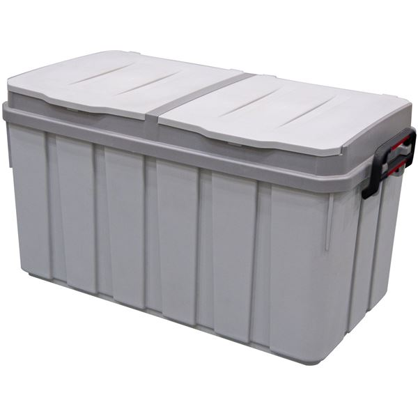 大容量ゴミ箱 分別ペール2X2(ツーバイツー) グレー 容量100L 4523GY
