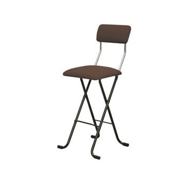 折りたたみ椅子 【1脚販売 ブラウン×ブラック】 日本製 スチールパイプ 幅400×奥行460×高さ940【代引不可】