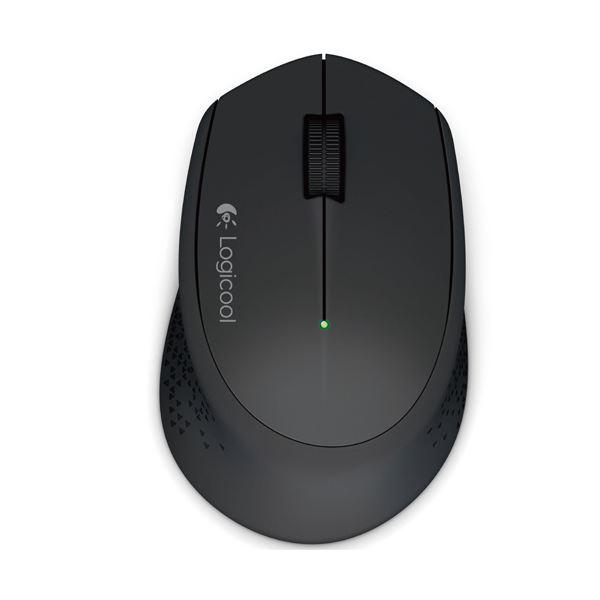 【無線タイプ】曲線デザインで快適な使用感。 (まとめ) ロジクール ワイヤレスマウス m280ブラック M280BK 1個 【×10セット】