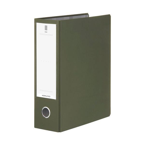 (まとめ) コクヨ チューブファイル(NEOS)A4タテ 800枚収容 80mmとじ 背幅95mm オリーブグリーン フ-NE680DG 1冊 【×10セット】
