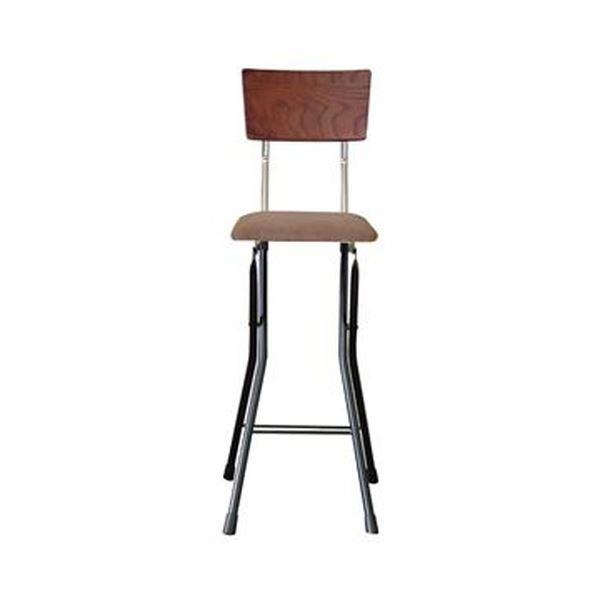 折りたたみ椅子 【1脚販売 ダークブラウン×ブラック×ブラック】 幅37cm 日本製 スチールパイプ 【代引不可】