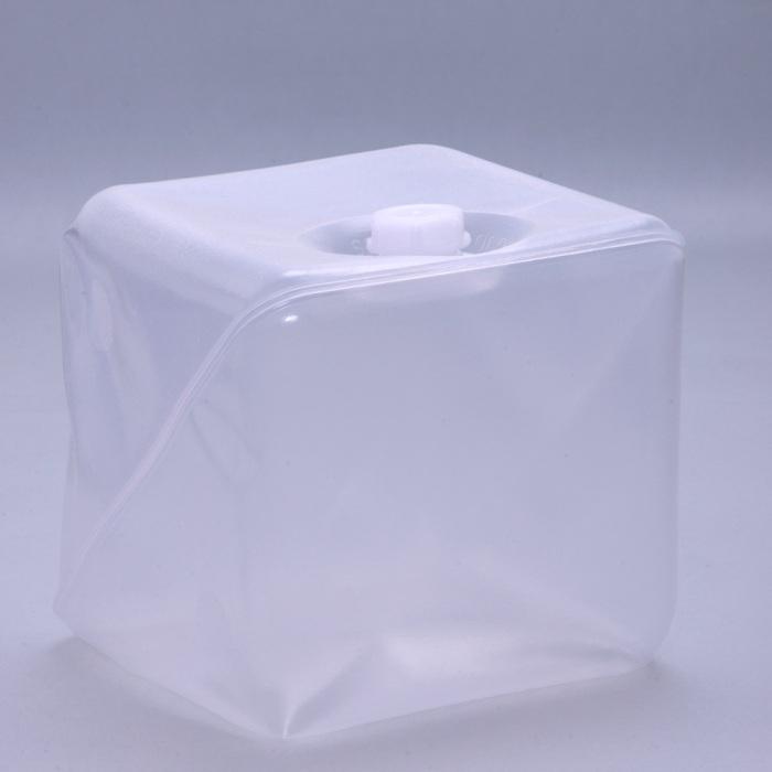 フレキシブル液体容器「キュービテーナー」 内容器 + スクリュー式キャップ 20L 50個セット