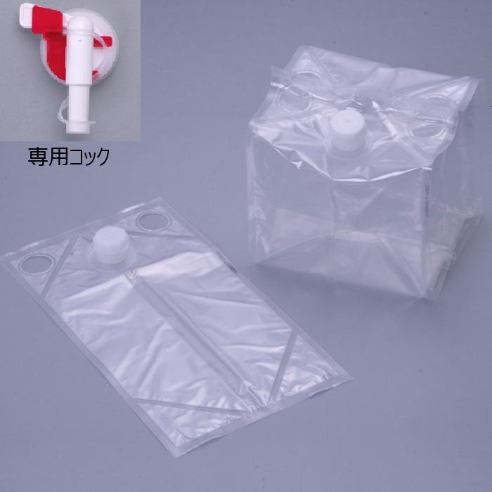 フィルム液体容器 「Zテーナー」 内容器+専用コック 5L 50個セット