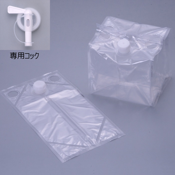 フィルム液体容器 「Zテーナー」 内容器+スクリュー式キャップ+専用コック 20L 50個セット