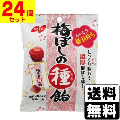 送料無料 一部地域を除く 本店 梅干し たね飴 タネ飴 30g ノーベル 24個セット 梅ぼしの種飴 激安通販ショッピング