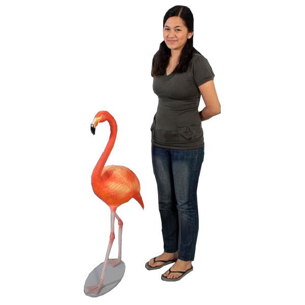 フラミンゴ / FlamingoFRP 耐水 軽い 強い 屋外用塗装 ガーデンファニチャー 置物 インテリア オブジェ 送料無料