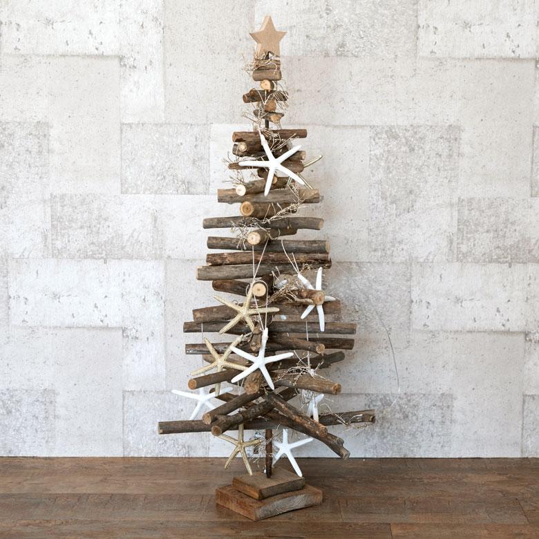 流木ツリー クリスマスツリー 流木 ナチュラル 天然素材 [92105]【 ツリー クリスマス 木製 Lサイズ 97cm 西海岸風 アレンジ可能 】