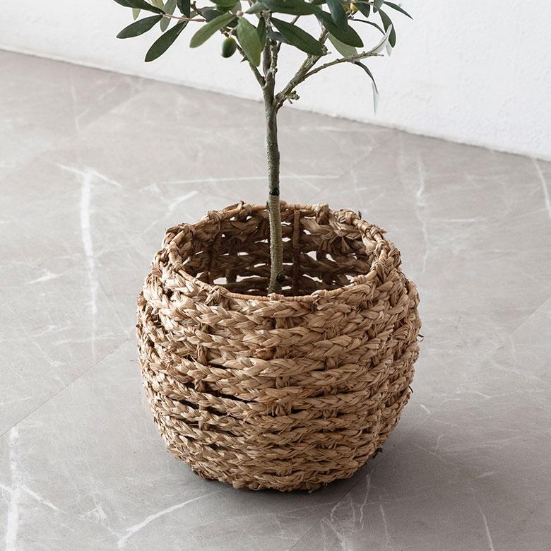 被用海玻璃杯編織的種植者覆蓋物(S尺寸)(vn51000)