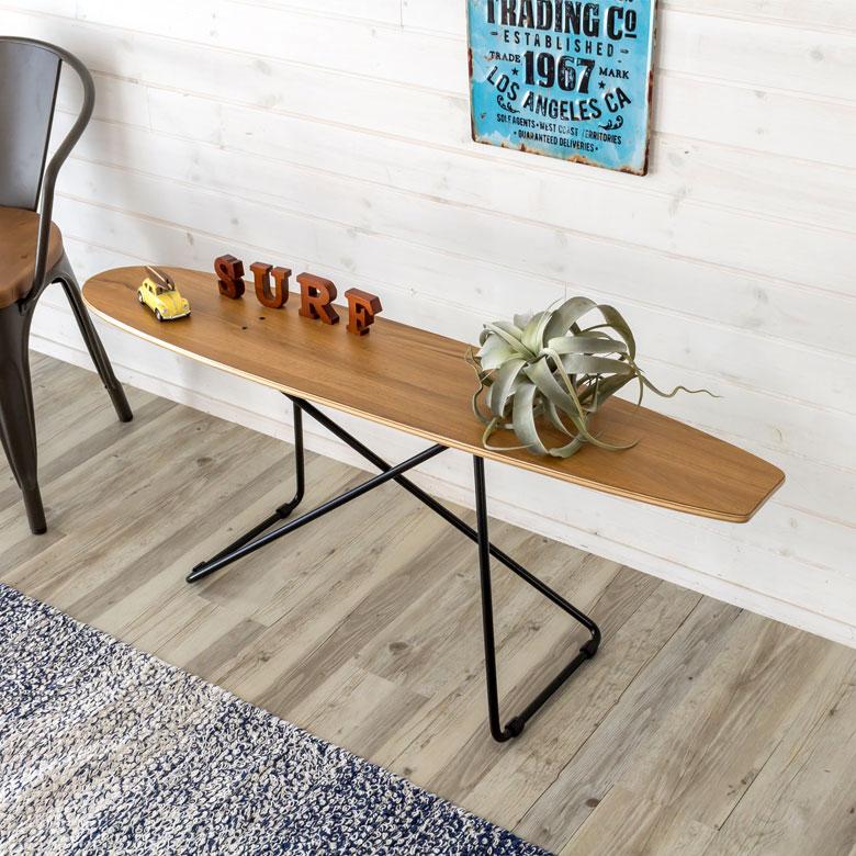 【 完成品 】 ローテーブル スケートボード テーブル (91043)【 スケボー サイドテーブル コーヒーテーブル スケーター アイアン風 西海岸 男前 インテリア 家具 ミッドセンチュリー ブルックリン カフェ風 リビング ダイニング 北欧 机 ナチュラル 背もたれなし 】