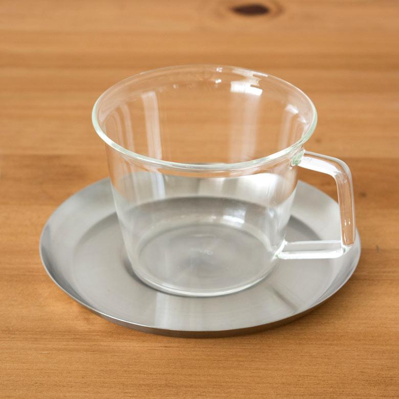 ガラスカップ 新色追加して再販 耐熱ガラス食器 ガラス製カップ シンプル おしゃれ コーヒーカップ ソーサー 耐熱ガラス ステンレス製受け皿 220ml 電子レンジOK 激安 激安特価 送料無料 ホット ティーカップ レンジ コップ 92094 ガラスのみ ガラス製 マグカップ 熱湯 アイス ガラス食器