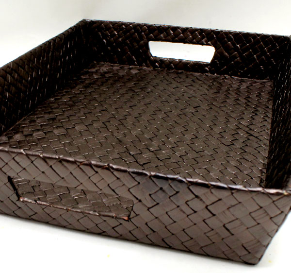 Basket tray [S] two colors development [bt-11735-bt-11736] with the handle made of bread Dan