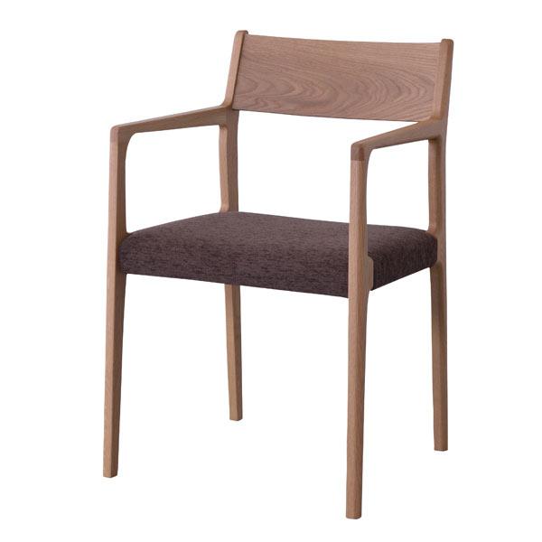 【割引クーポンあり】ダイニングチェア 肘付き 天然木 ファブリック オーク [91219]【 椅子 アームチェアー 木製チェア 布張り おしゃれ 北欧 】