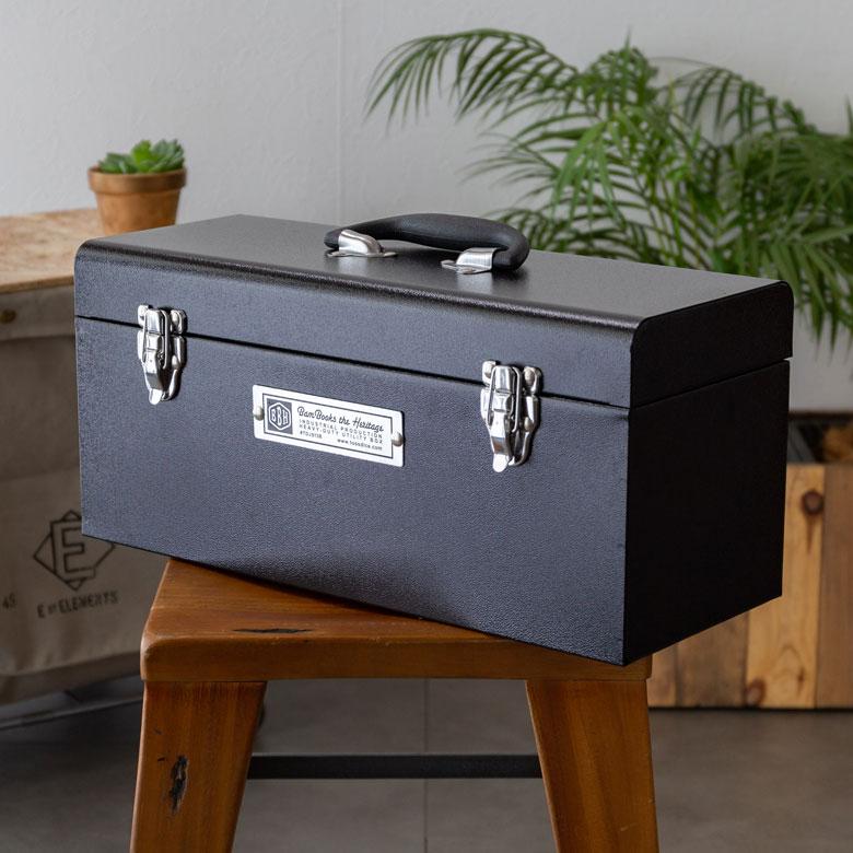 ツールボックス M 収納ボックス 工具入れ ブラック DIY [90020]【 工具箱 アメリカン ヴィンテージ 男性 小物入れ インテリア ユーティリティーボックス 】