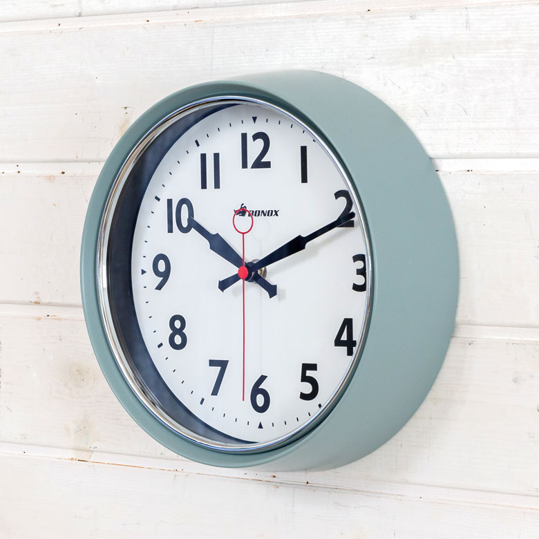 dulton BONOX おしゃれ シンプル カラフル ウォールクロック 信託 時計 壁掛け 直径21cm ホワイト ブラック 驚きの値段 レッド グリーン アイボリー インテリア ダルトン グレー 90100