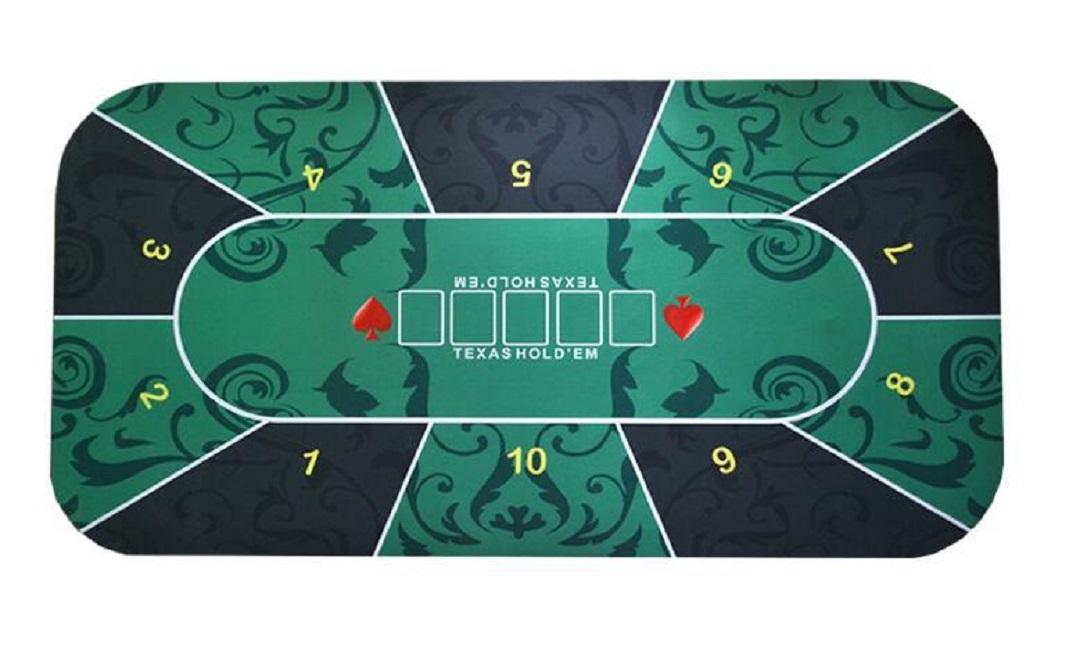 本格的なカジノ用マットです テキサスホールデム お得なキャンペーンを実施中 ポーカーマット 60×120cm レイアウト 収納袋付き 全国どこでも送料無料 プレイマット ラシャ