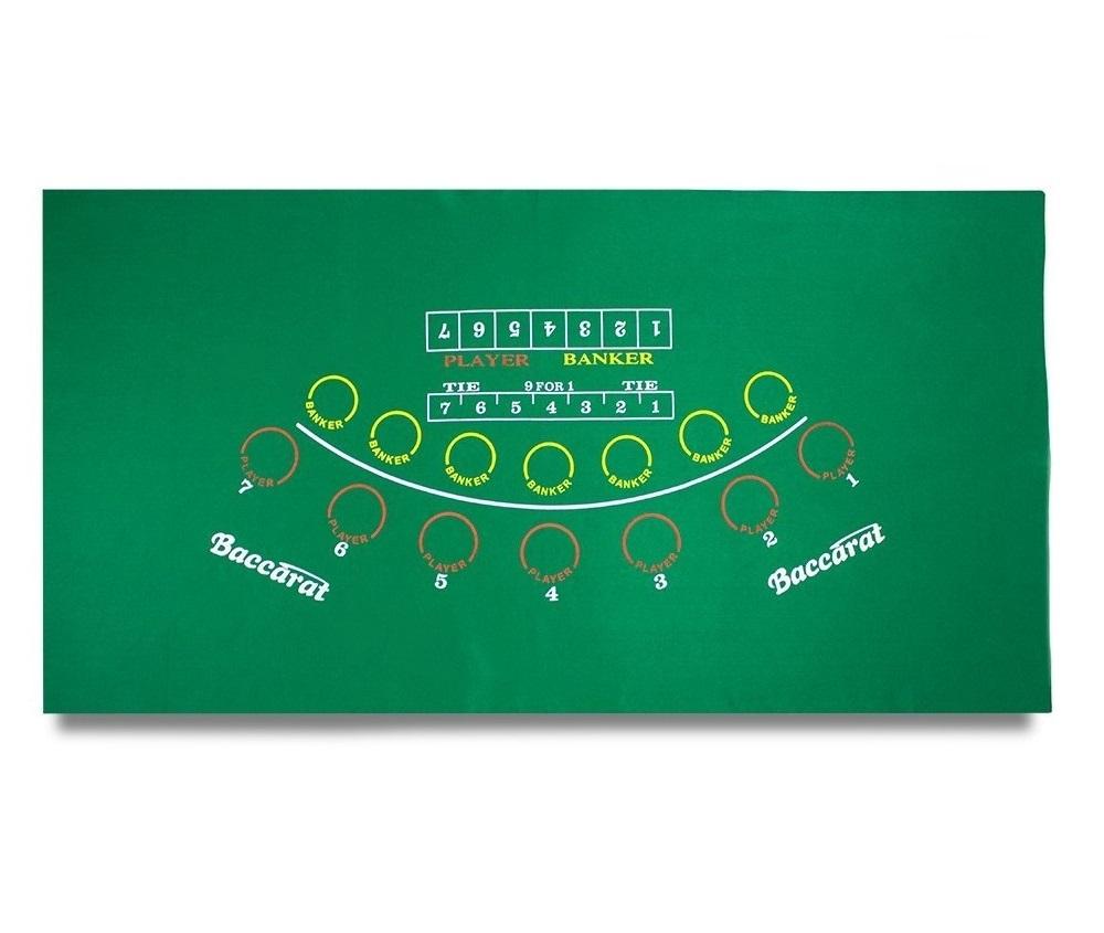 大判 キングサイズ バカラ マット テーブル レイアウト グリーン オリジナル カジノ 限定特価 フェルト ラシャ