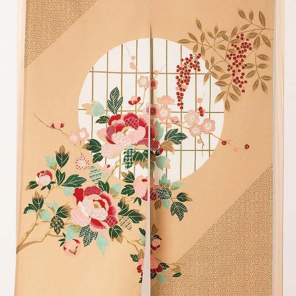 伝統工芸士が作る 国産抜染のれん 大正ロマン 日本製