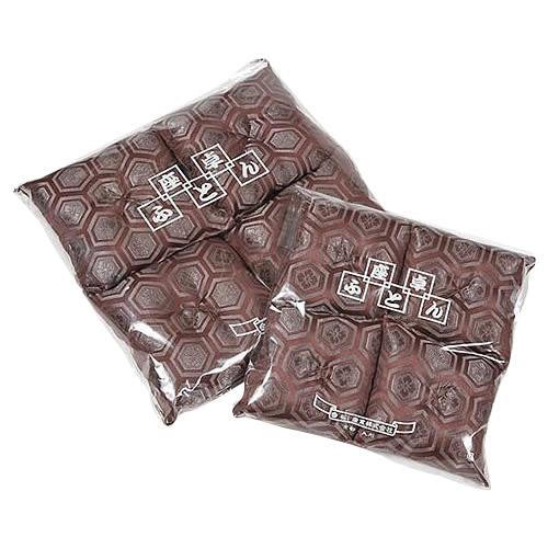 日本製 座卓足敷ふとん(新わた入) 新高級亀甲柄織 茶(大) 20cm角 4枚組 Z10-2
