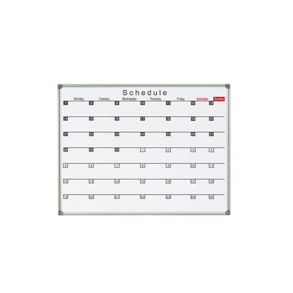 【送料無料】馬印 AX(アックス)シリーズ壁掛 予定表(スケジュール)ホワイトボード W1210×H920 AX34SG