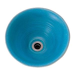 【Essence】手洗器 手作り手洗鉢 Sサイズ 孔雀青(ピーコックブルー)