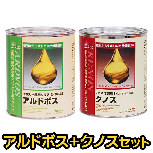【人気セット】リボス自然塗料 アルドボス+クノス 0.75Lセット
