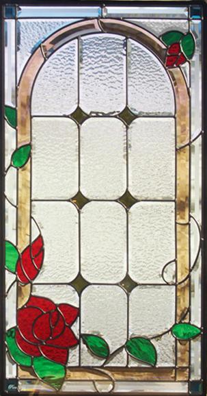 ステンドグラス ピュアグラス SH-A16 【ステンドガラス/ガラス/ランプ/シート/照明/北欧/おしゃれ/アンティーク/取り付け/DIY/ドア/窓/リビング/浴室/玄関/日除け/目隠し/室内/屋内/薔薇/ローズ/バラ】
