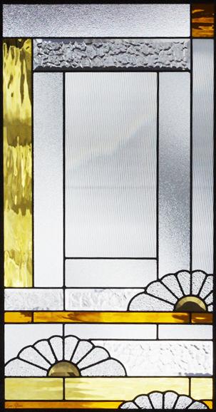 ステンドグラス ピュアグラス SH-A33 【ステンドガラス/ガラス/ランプ/シート/照明/北欧/おしゃれ/アンティーク/取り付け/DIY/ドア/窓/リビング/浴室/玄関/日除け/目隠し/室内/屋内】