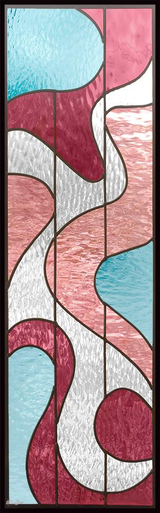ステンドグラス ピュアグラス SH-C37 パネル 窓枠 おしゃれ アンティーク ガラス ランプ シート 照明 北欧 取り付け DIY ドア 窓 リビング 浴室 玄関 日除け 目隠し 室内 屋内 ステンドガラス 送料無料