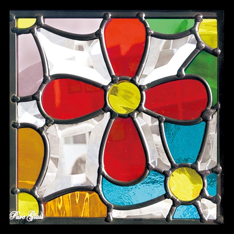 ステンドグラス ピュアグラス SH-D33 パネル 窓枠 おしゃれ アンティーク ガラス ランプ シート 照明 北欧 取り付け DIY ドア 窓 リビング 浴室 玄関 日除け 目隠し 室内 屋内 ステンドガラス 送料無料