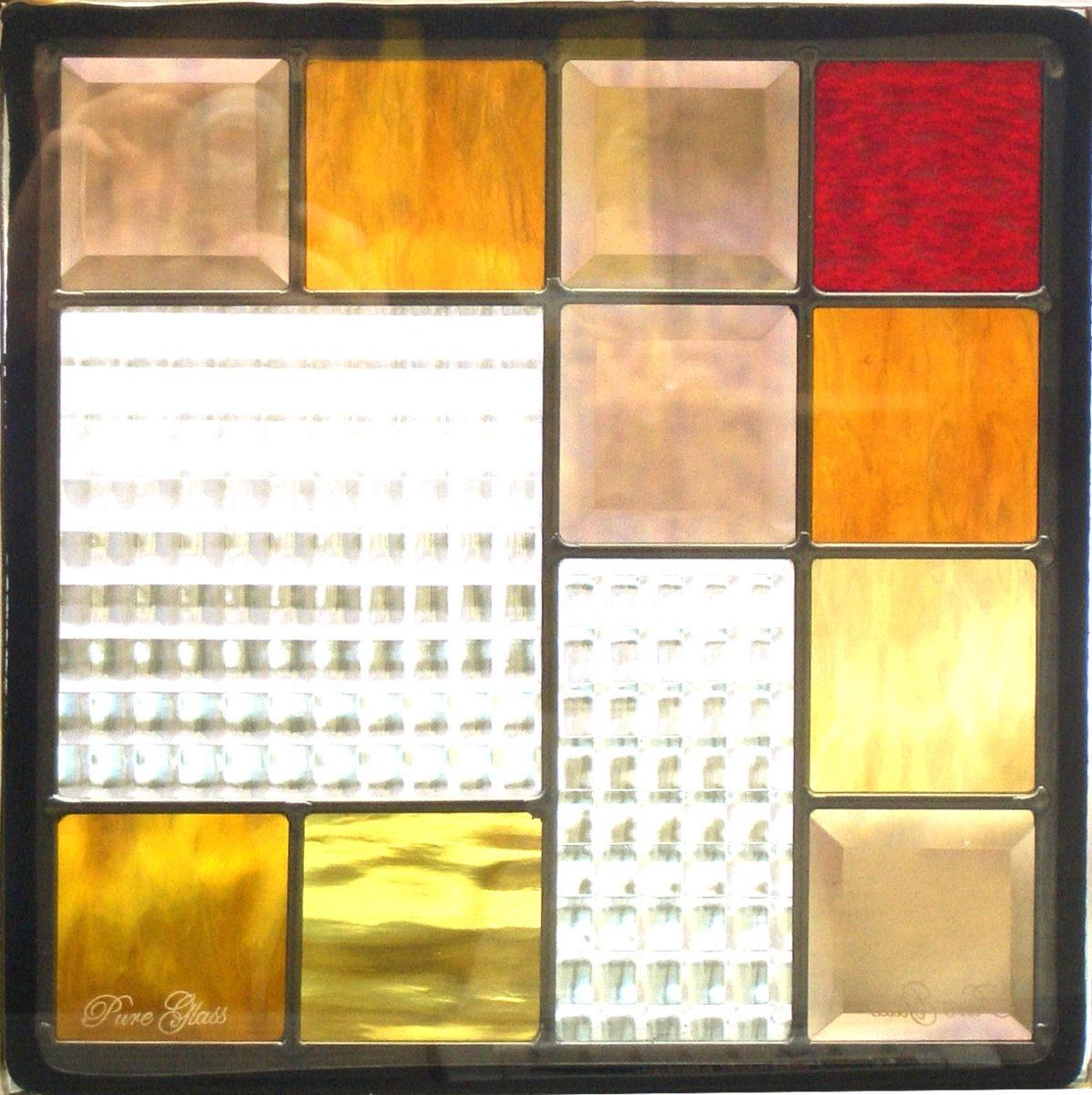 【送料無料】ステンドグラス ピュアグラス SH-E03 【ステンドガラス/ガラス/ランプ/シート/照明/北欧/おしゃれ/アンティーク/取り付け/DIY/ドア/窓/リビング/浴室/玄関/日除け/目隠し/室内/屋内/シンプル/モダン/四角】