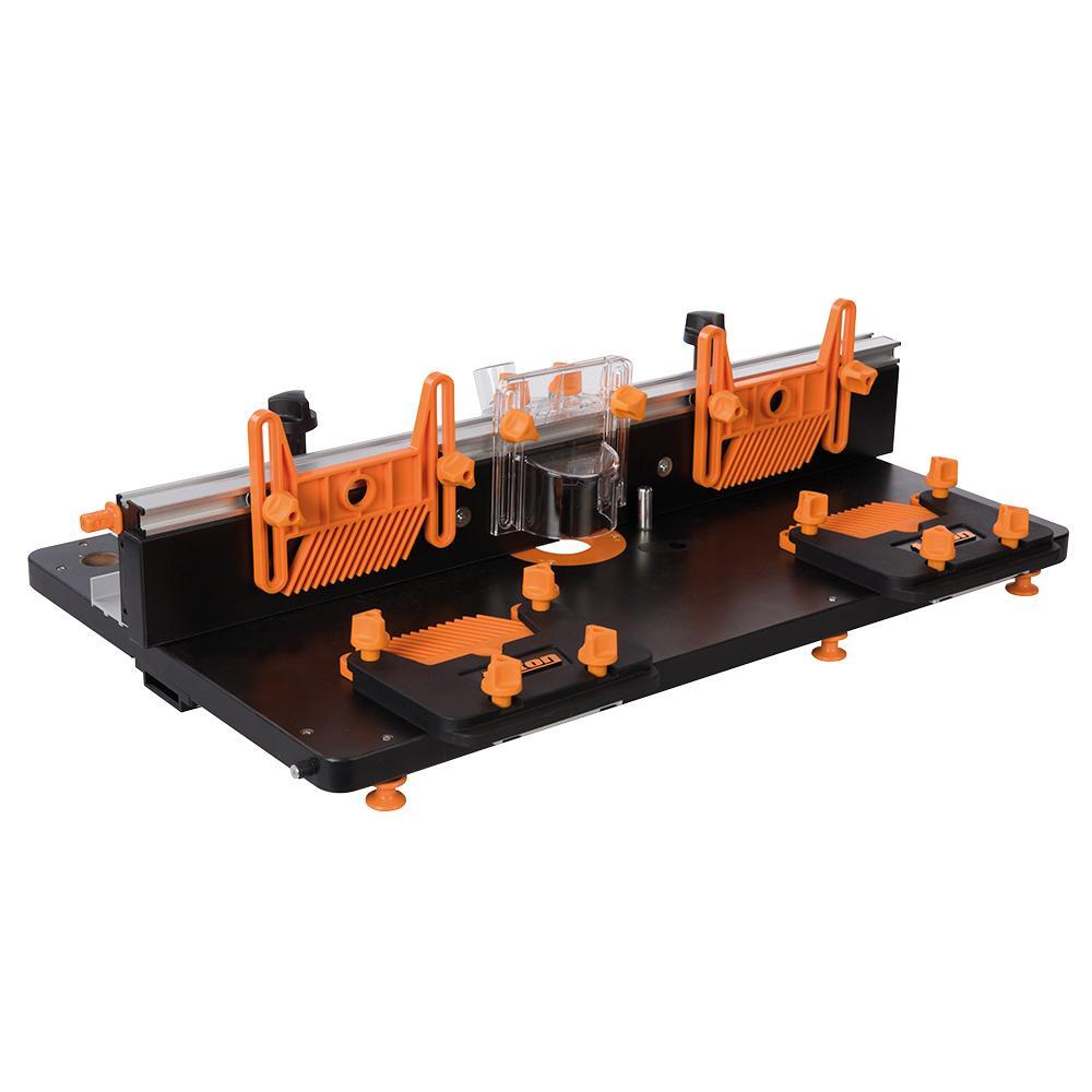 ワークセンターTWX7用に設計された高精度ルーターテーブルユニット triton トライトン TWX7 ルーターテーブルモジュール RT001 トリトン ワークセンター 作業台 木工 木材加工 日曜大工 DIY