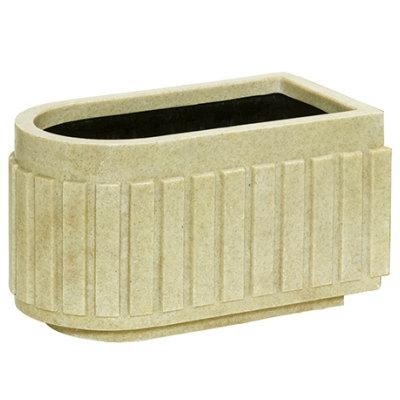 グラスファイバー 96×54×H54cm【大和プラ販 96型 4903266718824】 植木鉢 ヤマトプラスチック 御影システムプランター FRP 大型鉢カバー