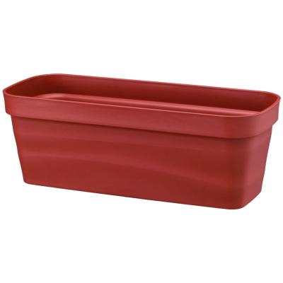 素焼きのような質感と緩やかなウェーブ プラ鉢 フレグラープランター 50型 ブラウン 期間限定特価品 セール特価 大和プラ販 50×20×H17.5cm ヤマトプラスチック鉢4903266723569