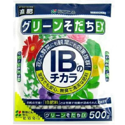 花にも野菜にも使える 白粒の王様 肥料 低廉 IBのチカラグリーンそだちEX 花ごころ 4977445053907 500g ※アウトレット品