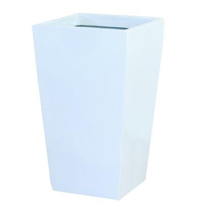 大型鉢カバー スクエアポット ホワイト L-35型 35×35×H57cm【大和プラ販 ヤマトプラスチック グラスファイバー FRP 植木鉢 4903266719357】