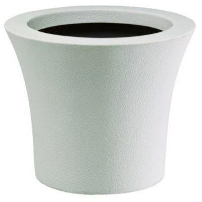 大型鉢カバー クラウン CR51型 ホワイト 深型 ラウンド 51×H43cm 【大和プラ販 ヤマトプラスチック グラスファイバー FRP 植木鉢 4903266723279】