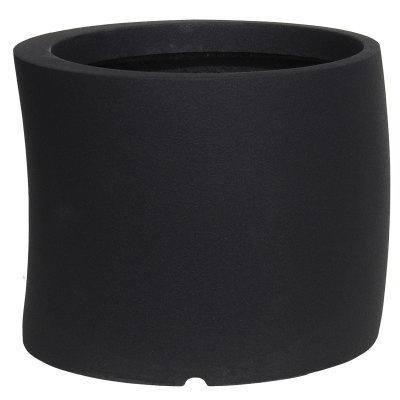 大型鉢カバー カーブ 50型 ブラック 50×H41cm【大和プラ販 ヤマトプラスチック グラスファイバー FRP 植木鉢 4903266725600】