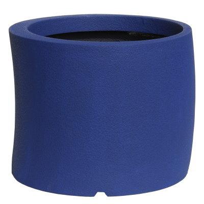 大型鉢カバー カーブ 50型 ダークブルー 50×H41cm【大和プラ販 ヤマトプラスチック グラスファイバー FRP 植木鉢 4903266725617】