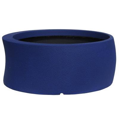 大型鉢カバー カーブ 82型 ダークブルー 80×H32.5cm【大和プラ販 ヤマトプラスチック グラスファイバー FRP 植木鉢 4903266725648】