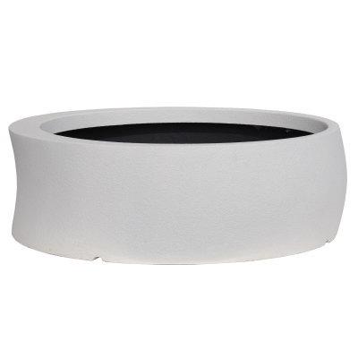 大型鉢カバー カーブ 100型 ホワイト 100×H31cm【大和プラ販 ヤマトプラスチック グラスファイバー FRP 植木鉢 4903266725655】